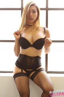 Annie In Black Lingerie And Stockings
