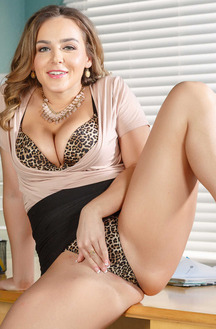Sexy Office Milf Natasha Nice Stripping