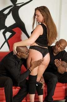 Maddy OReilly Fucking With Two Black Cocks Like A Pro