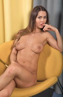Erotic Brunette Alexandra Intimate Photos