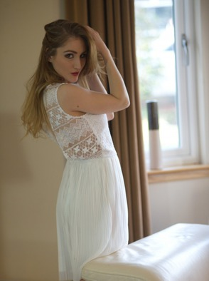 Rachelle Summers In White Dress