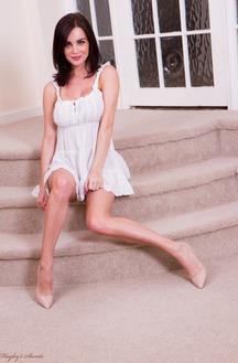 Emma Glover In White