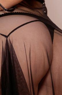 Sophia Knight Sexy Black Lingerie
