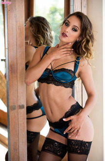 Sexy Erotic Babe Uma Jolie Stripping Her Lingerie