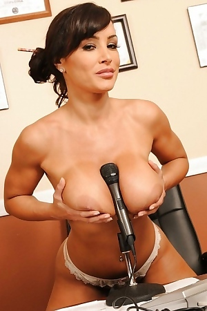 Lisa Ann Strips To Black Stockings