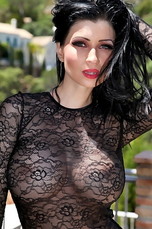 Lilly Roma In A Sexy Dress