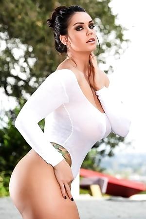 Alison Tyler In Wet Bodysuit