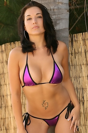 Teresa Takes Off Purple Bikini