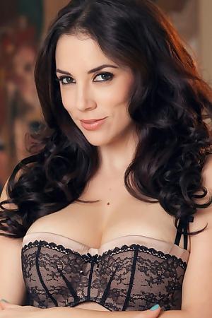 Jelena Jensen In Her Black Lingerie