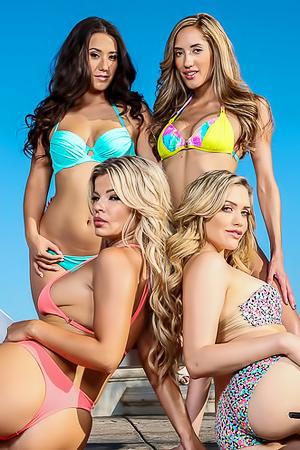 Four Hot Lesbian Pornstar Babes