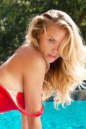 Playmate Kristy Garett Chilling On Nice Summer Day
