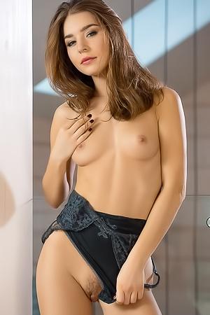 Lilii In Sexy Black Bodysuit