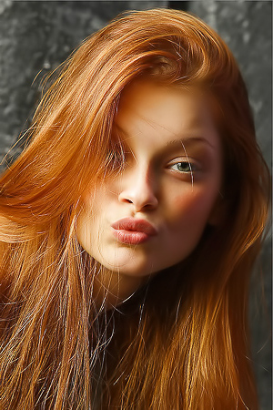 Redhead Model Ava