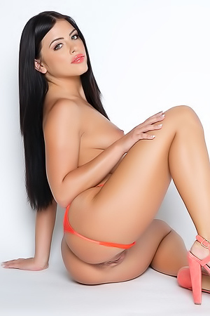 Black-haired Pornstar Adriana Chechik