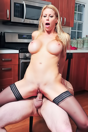 Blonde MILF Alexis Fawx Fucked In The Kitchen
