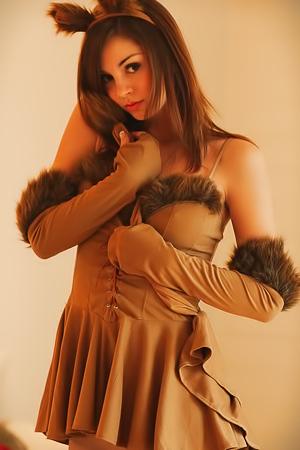 Sexy Cutie Aspen Martin In Furry Costume