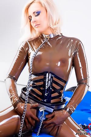 Naughty Lara Larsen In Chastity Belt
