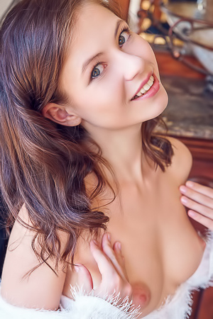 Enchanting Ukrainian Brunette, Hilary C