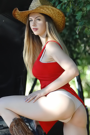 Stella Cox Takes Off Her Red Dress