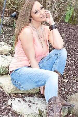 Nikki Sims Strips Outdoors