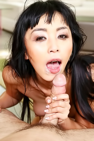 Asian Young Slut Blows Hard