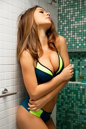 Lily Chey Sexy Brunette Babe In Bikini