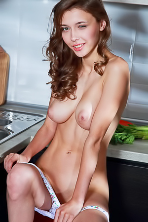 Mila Azul Teasing In The Kitchen