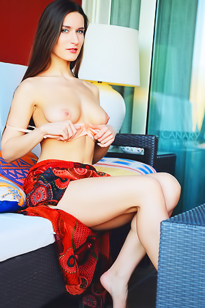 Statuesque sex goddess Elina