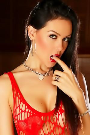 Vixen Babe Erika G Teases In Red Net Dress