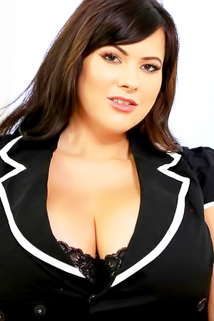 Huge Boobed Rachel Aldana Posing In Black Jacket