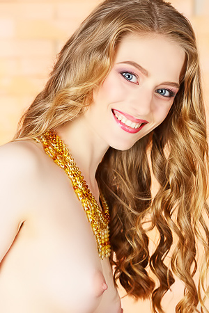 Blue-eyed babe Rebecca G brings light and color to the party