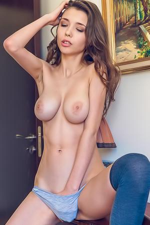 Shy And Big Breasted Mila Azul Masturbating