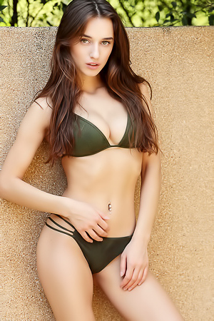 Gloria Sol In Hot Green Bikini