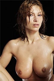 Gorgeous wet babe
